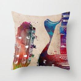 Guitar art 24 #guitar #music Throw Pillow
