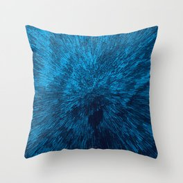 Bold Burst in Blue Throw Pillow