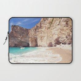 Corfu. Greece. Wild beach among the rocks. Laptop Sleeve
