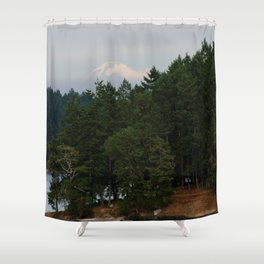 A glimpse at Mount Baker, WA Shower Curtain