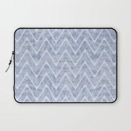Pale Foamy Blue Chevron Faux Toweling Laptop Sleeve