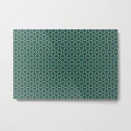 Round circles pattern turquoise Geometric Metal Print