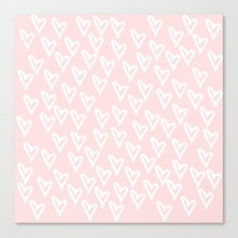 White hearts Canvas Print