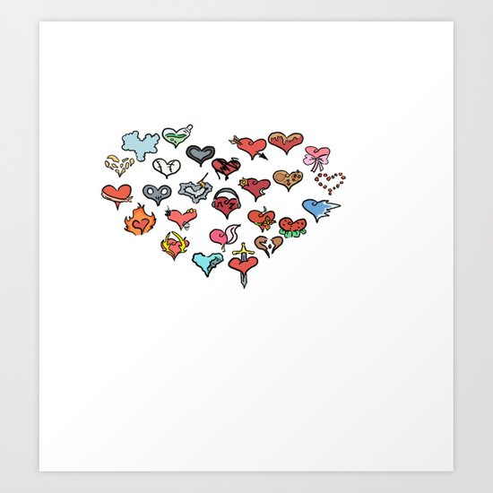 Hearts of Hearts Art Print