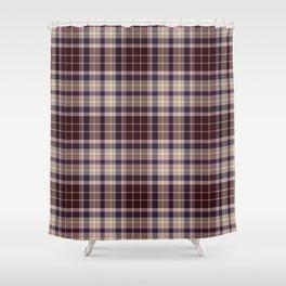 Burgundy Plaid Shower Curtain