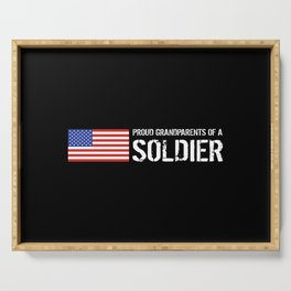 Proud Grandparents of a Soldier Serving Tray