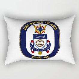 USS RHODE ISLAND (SSBN-740) PATCH Rectangular Pillow