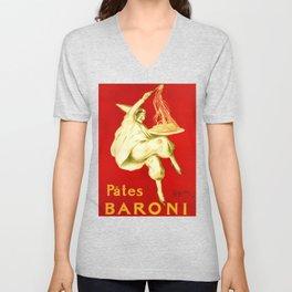 Pasta Baroni Leonetto Cappiello Unisex V-Neck