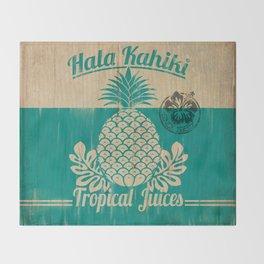 Hala Kahiki Juice Stand wooden board. Throw Blanket