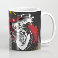 ducati Mugs featuring Ducati 1098 Color Spots by Larsson Stevensem