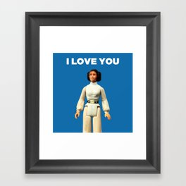 I Love You - Leia Framed Art Print