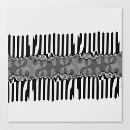 Fraktal Fences Canvas Print