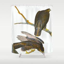 Black Warrior Bird Shower Curtain