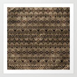 Ethnic Tribal  Pattern on canvas Art Print