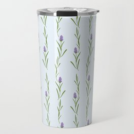 Modern artistic pastel blue lavender watercolor floral pattern Travel Mug