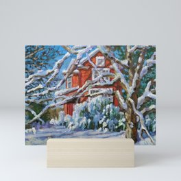 Cozy in the Snow Mini Art Print