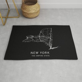 New York State Road Map Rug