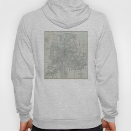 Vintage Map of Akron Ohio (1917) Hoody