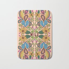 Bohemian Floral Peach version Bath Mat
