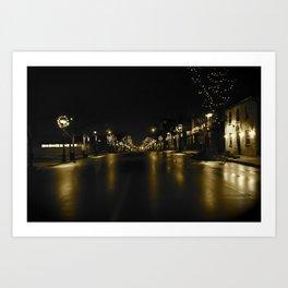 Waterloo @ Night Art Print