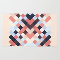 coral Area & Throw Rugs featuring CORAL by Sorbetedelimon