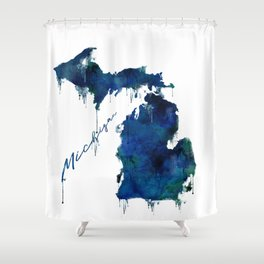 Michigan - wet paint Shower Curtain