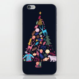 Magic of a christmas tree iPhone Skin