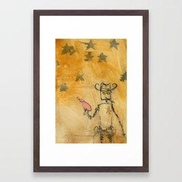 Sheriffbot Wields His Pink Raygun Framed Art Print