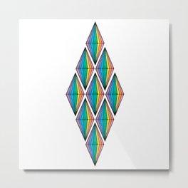 Rainbow Plumbobs Metal Print