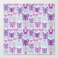 bows Canvas Prints featuring Bows by Jessica Anecito