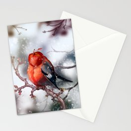 Apple Bullfinch Stationery Cards