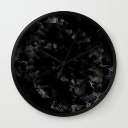 black marble abstract painting Wall Clock