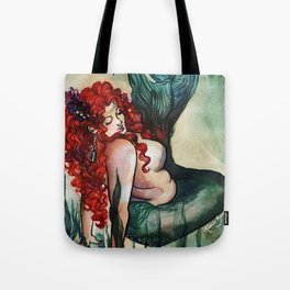Plus Size Green Mermaid Tote Bag