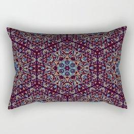 Brown and blue geometric Mandala Rich ornament Rectangular Pillow