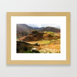 Castle Howe landscape Framed Art Print