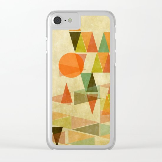 Abstract Landscape Clear iPhone Case