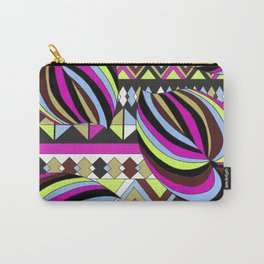 Tropical Bright Palms with Stripe Carry-All Pouch