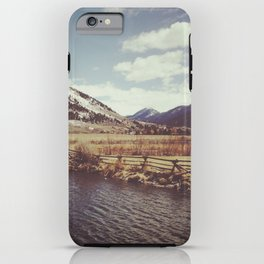 Looking Over the Creek at the Gros Ventre Mountain Range, Wyoming iPhone Case