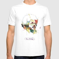 Tim Maia LARGE White Mens Fitted Tee