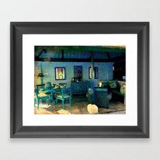 La Casa Azul Framed Art Print