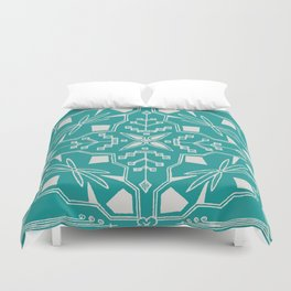 Turquoise Batik Duvet Cover
