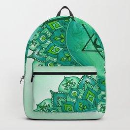 Heart Chakra Mandala - Green BG Backpack
