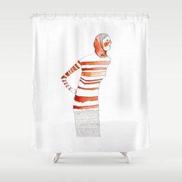 Mom Calling for Dinner Shower Curtain