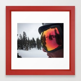 Through the Goggle Lense Framed Art Print