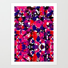 Abstract Colorful Broken Fragment Art Print