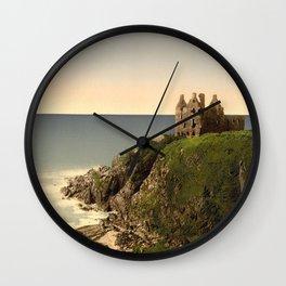 Vintage Photo-Print of Dunsky Castle (1905) Wall Clock