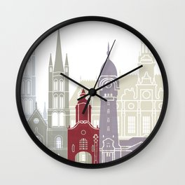 Limoges skyline poster Wall Clock