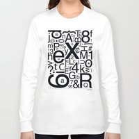 helvetica Long Sleeve T-shirts featuring HELVETICA by Typography Photography™