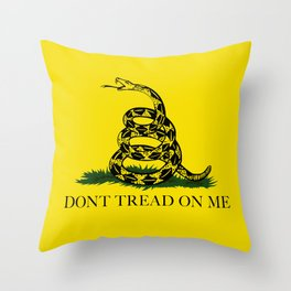 "Gadsden ""Don't Tread On Me"" Flag, High Quality image Throw Pillow"