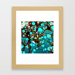 Metal and Blobs Framed Art Print